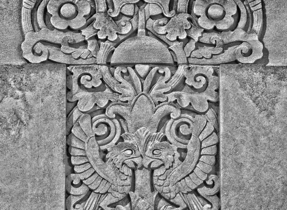 "Detail of Michigan Bell ""Columbia"" Central Office, 52 Selden St, Detroit; Corrado Parducci, architectural sculptor, built 1926"